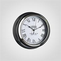 """Часы Настенные Черные """"London Station"""" (Полимер)"""