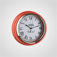 """Часы Настенные Красные """"London Station"""" (Полимер)"""