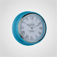 """Часы Настенные Бирюзовые """"London Station"""" (Полимер)"""