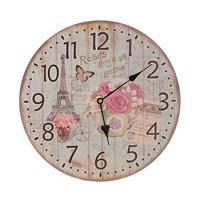 Часы настенные круглые Эйфелева башня (34см)