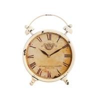 Часы будильник белый