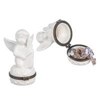 Фарфоровая Мини шкатулка ангелочек музыкант(от 2-х штук)