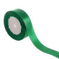 Лента атласная зеленая