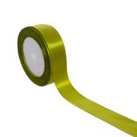 Лента атласная зеленая для упаковки