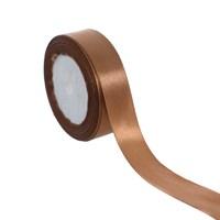 Лента атласная коричневая для упаковки
