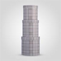 """Набор из Трех Подарочных Коробок """"Burberry Design"""" Темно-Серый"""