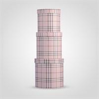 """Набор из Трех Подарочных Коробок """"Burberry Design"""" Розовый"""
