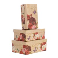 Набор подарочных коробок Роза (3шт)