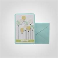 """Открытка Поздравительная Ручной Работы с Воздушными Шарами """"С праздником"""" от 5 шт."""