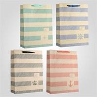 Пакеты Подарочные в Морском Стиле L Микс (от 12 штук)