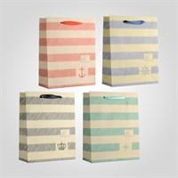 Пакеты Подарочные в Морском Стиле M Микс (от 12 штук)