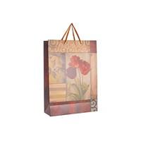Пакет подарочный крафтовый Тюльпаны  (от 12штук)