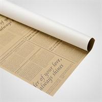 Пленка Оформительская Двухсторонняя Белая/Коричневая Газета (20 Листов)