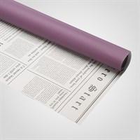 Пленка Оформительская Двухсторонняя Фиолетовая/Белая Газета (20 Листов)