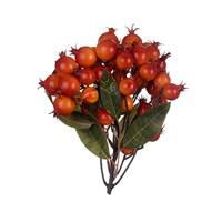 Ягоды Декоративные на Грозди Красно-Оранжевые