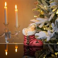 Ангел новогодний  спящий на  сапоге 12х6х13см