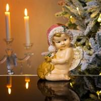 Ангел новогодний с мешочком 15х10х18см