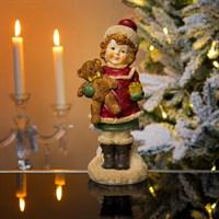 Девочка Снегурочка с подарком 11х25