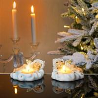 Ангел новогодний со свечкой 12х10х6см