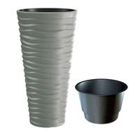 Кашпо для цветов SAND SLIM DPSA400-405U серый 2 предмета 18 и 45л