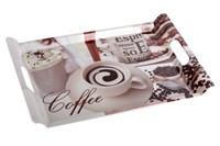 Поднос с ручками 41х28см  4992 Coffee