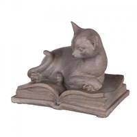 Статуэтка кошка  на книге 14,5х9,5х25,5