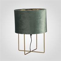 Лампа Металлическая Золотистая с Бархатным Зеленым Абажуром Большая