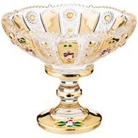 КОНФЕТНИЦА LEFARD GOLD GLASS 14*14 СМ. ВЫСОТА=12 СМ. (КОР=24ШТ.)