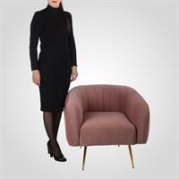 Дизайнерское Мягкое Кресло Цвета Розовой Пудры