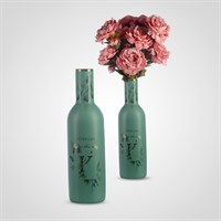 Ваза-Бутылка Напольная Керамическая Интерьерная Зеленая 60 см.