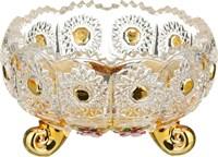 КОНФЕТНИЦА LEFARD GOLD GLASS ДИАМЕТР=11 СМ. ВЫСОТА=7 СМ. (КОР=36ШТ.)