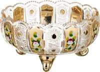 КОНФЕТНИЦА LEFARD GOLD GLASS ДИАМЕТР = 22 СМ, ВЫСОТА = 12 СМ (КОР=6ШТ.)