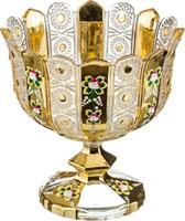 КОНФЕТНИЦА НА НОЖКЕ LEFARD GOLD GLASS ДИАМЕТР=24 СМ. ВЫСОТА=25 СМ. (КОР=4ШТ.)